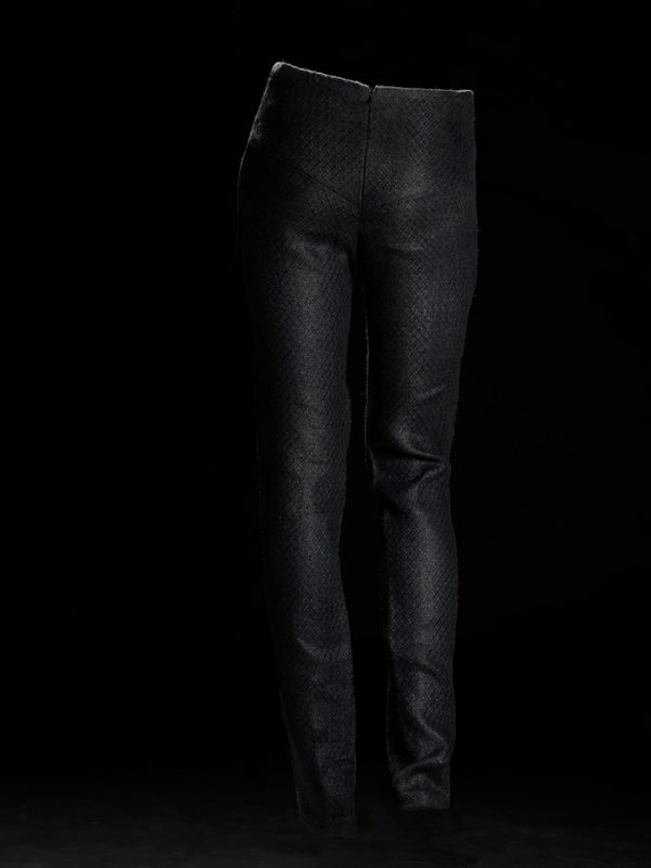 Pepita Black Trousers Back
