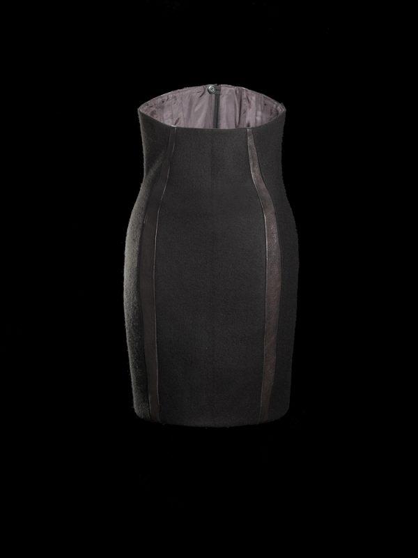 High Waist Skirt Felt Back