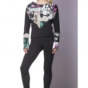 Sweater FAB and Leggings Glitter Front