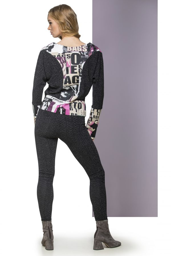 Sweater FAB and Leggings Glitter Back