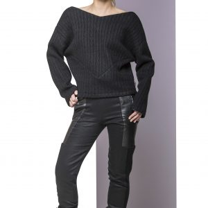 Sweater Wool and Trousers IN front