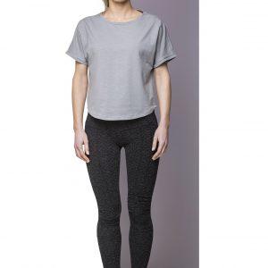 T-shirt Top Light Grey Front