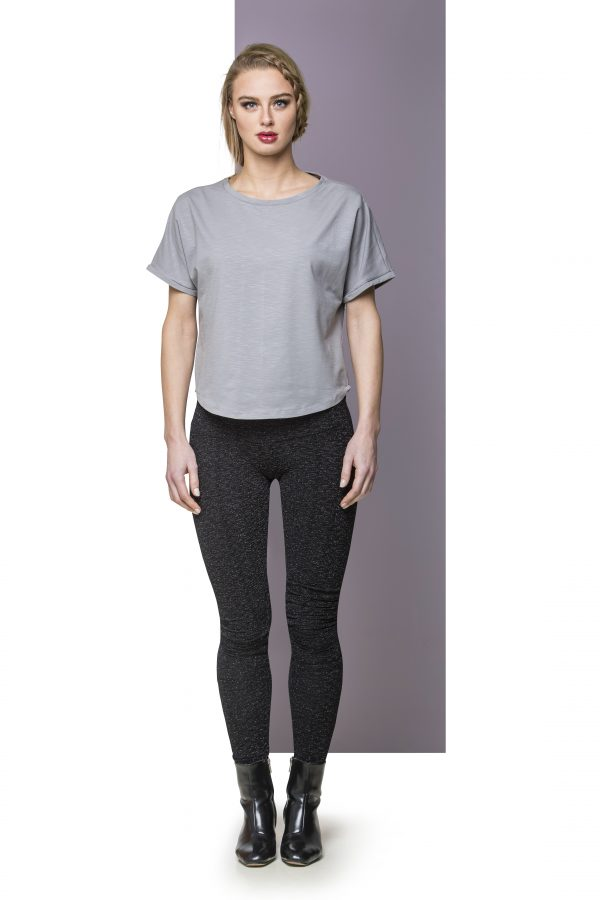 T-shirt Top Light Grey Front