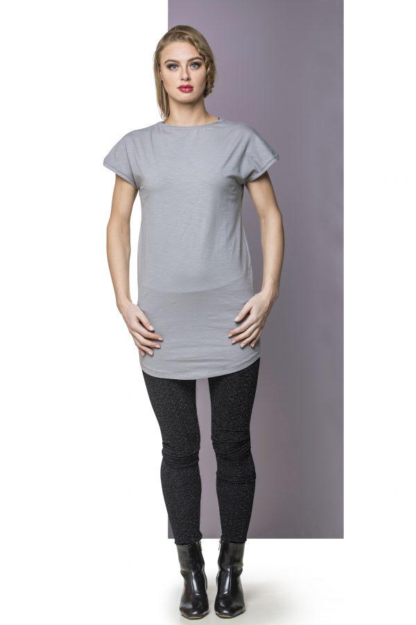 Dress Cotton Light Gray Front