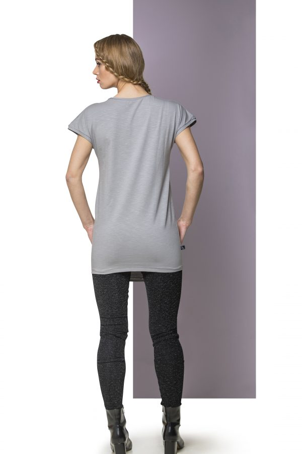 Dress Cotton Light Gray Back