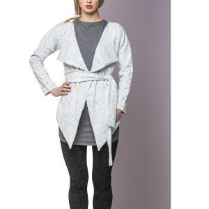 Vest Cotton Mottled White Front