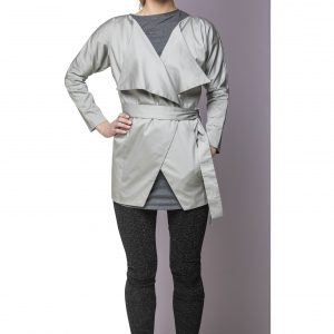Coat Long Light Grey Front
