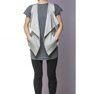 Gilet Cotton Light Grey Front