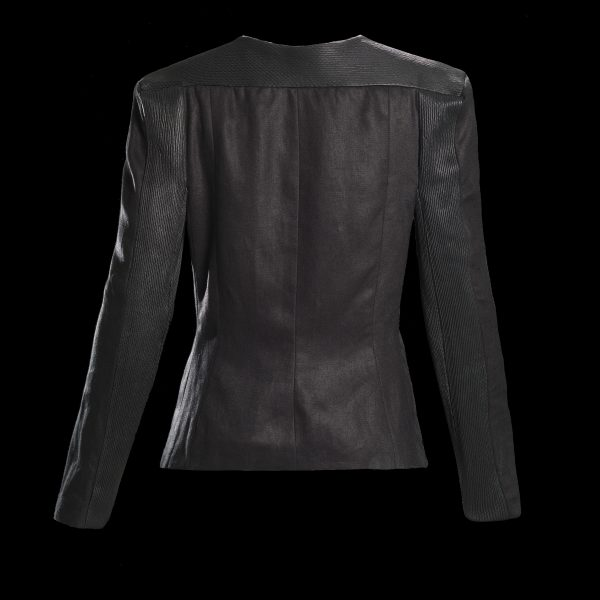 Hemp Leather Coat Back